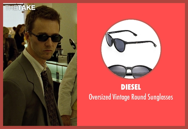 Diesel black sunglasses from Fight Club seen with Edward Norton (The Narrator)