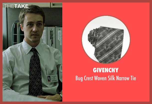 Givenchy black tie from Fight Club seen with Edward Norton (The Narrator)