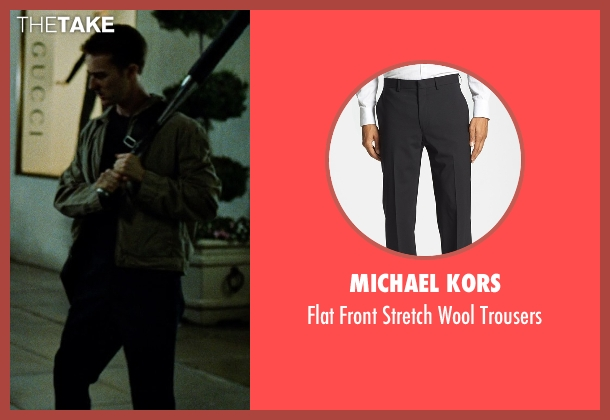 Michael Kors black trousers from Fight Club seen with Edward Norton (The Narrator)