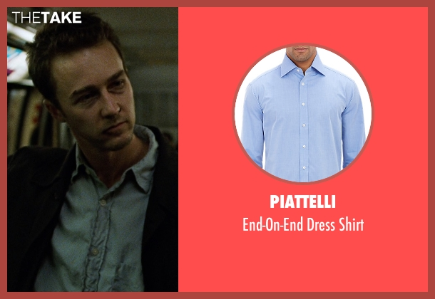 Piattelli blue shirt from Fight Club seen with Edward Norton (The Narrator)