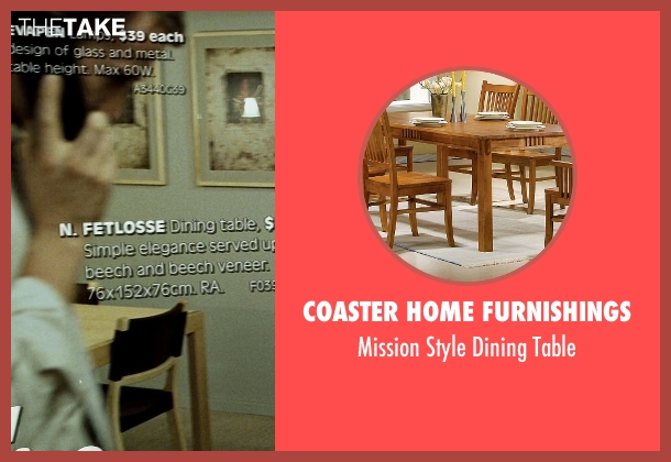 Coaster Home Furnishings brown table from Fight Club seen with Edward Norton (The Narrator)