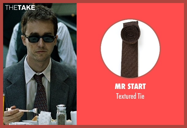 Mr Start brown tie from Fight Club seen with Edward Norton (The Narrator)