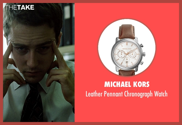 Michael Kors	 brown watch from Fight Club seen with Edward Norton (The Narrator)