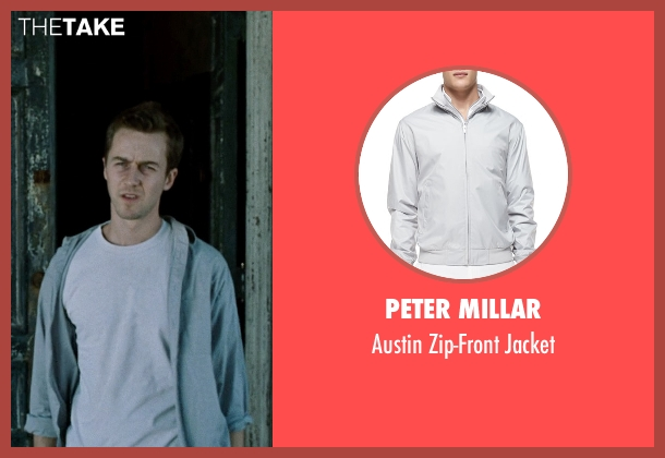 Peter Millar gray jacket from Fight Club seen with Edward Norton (The Narrator)