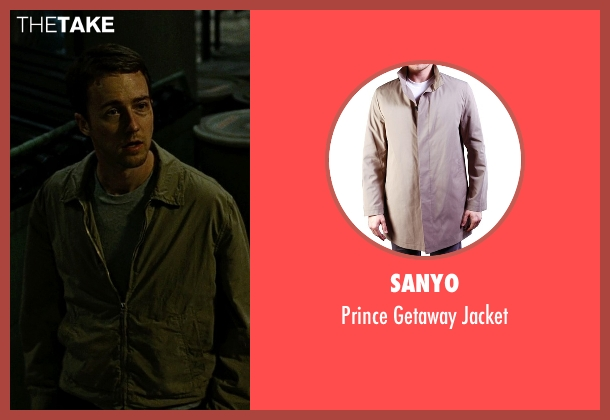 Sanyo gray jacket from Fight Club seen with Edward Norton (The Narrator)