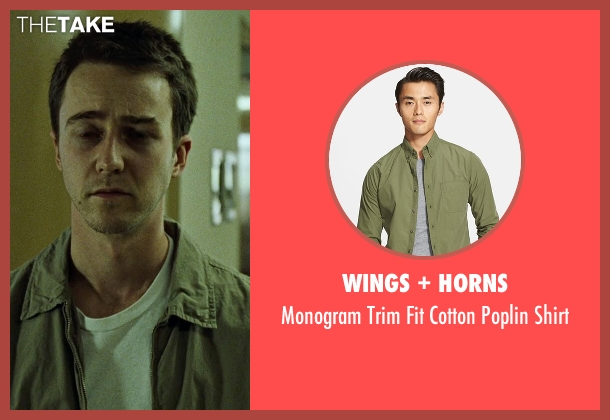 Wings + Horns green shirt from Fight Club seen with Edward Norton (The Narrator)