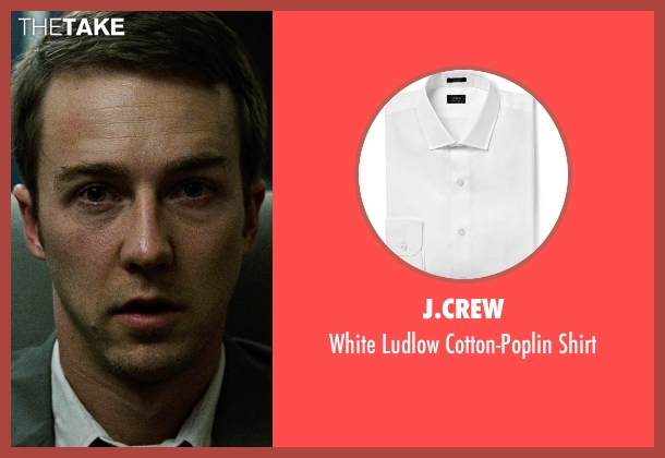 J.Crew white shirt from Fight Club seen with Edward Norton (The Narrator)