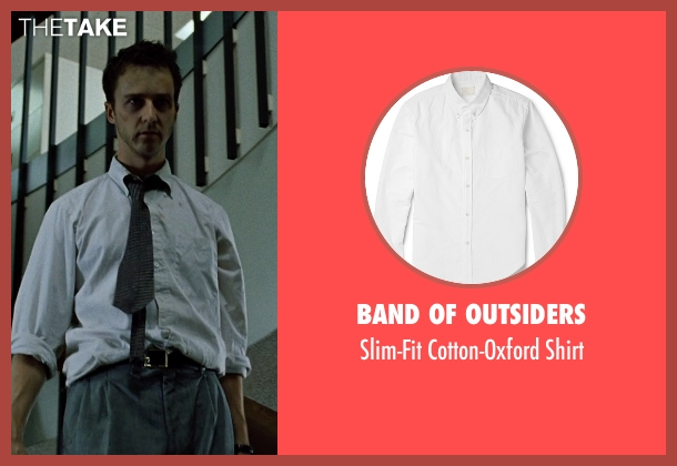Band of Outsiders white shirt from Fight Club seen with Edward Norton (The Narrator)