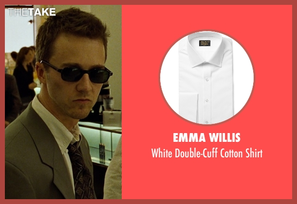 Emma Willis white shirt from Fight Club seen with Edward Norton (The Narrator)