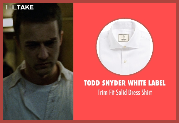 Todd Snyder White Label white shirt from Fight Club seen with Brad Pitt (Tyler Durden)