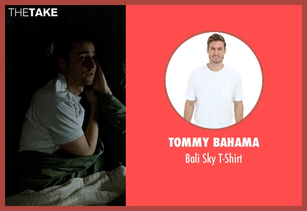 Tommy Bahama white t-shirt from Fight Club seen with Edward Norton (The Narrator)