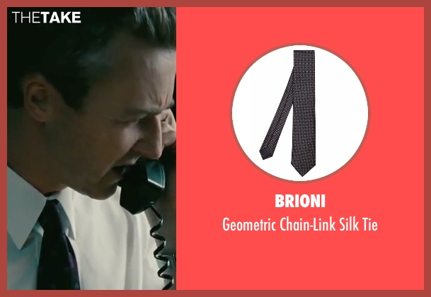 Brioni black tie from The Bourne Legacy seen with Edward Norton (Col Eric Byer)