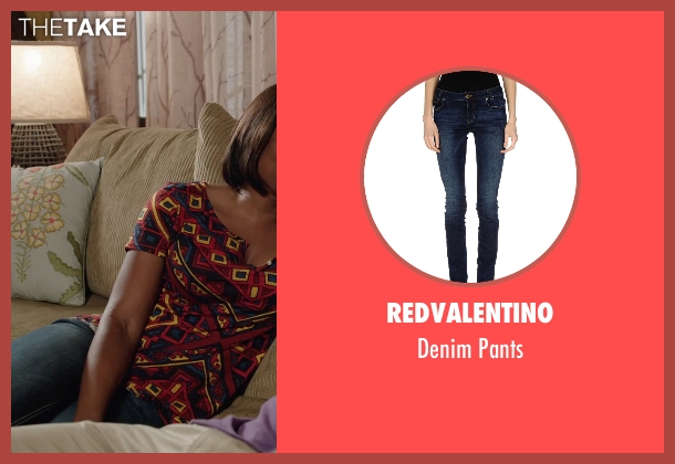 REDValentino blue pants from Get Hard seen with Edwina Findley Dickerson (Rita Lewis)