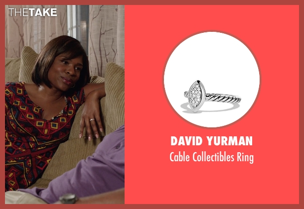 David Yurman silver ring from Get Hard seen with Edwina Findley Dickerson (Rita Lewis)