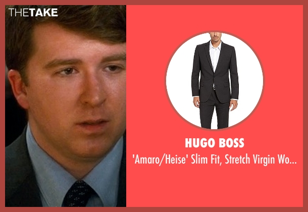 Hugo Boss gray suit from Crazy, Stupid, Love. seen with Ehrin Marlow (Hannah's Colleague #4)