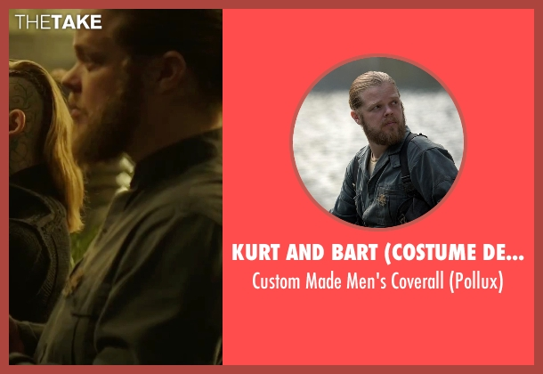 Kurt and Bart (Costume Designer) gray coverall from The Hunger Games: Mockingjay - Part 2 seen with Elden Henson (Pollux)