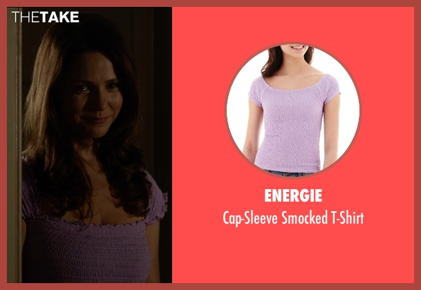 Energie purple t-shirt from Insidious: Chapter 3 seen with Ele Keats (Lillith Brenner)
