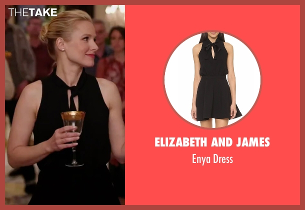 Elizabeth And James black dress from The Good Place seen with Eleanor Shellstrop (Kristen Bell)