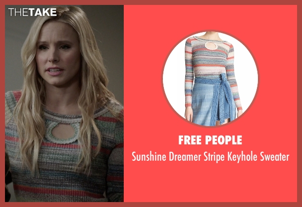 Free People sweater from The Good Place seen with Eleanor Shellstrop (Kristen Bell)