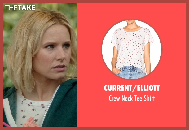Current/Elliott white shirt from The Good Place seen with Eleanor Shellstrop (Kristen Bell)
