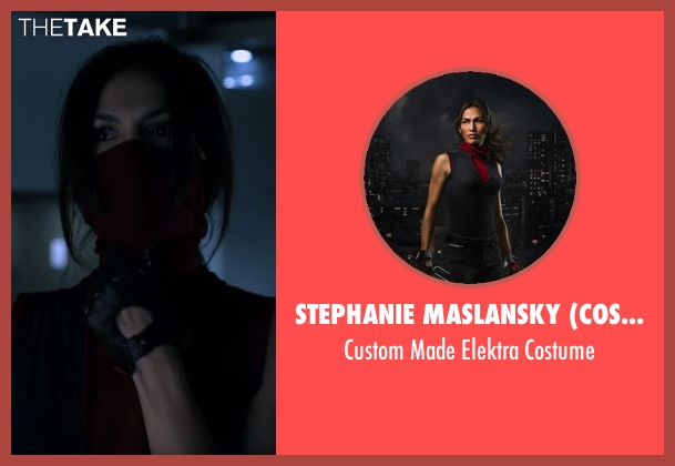 Stephanie Maslansky (Costume Designer) costume from Daredevil seen with Elektra Natchios (Elodie Yung)