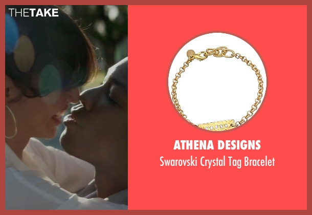 Athena Designs gold bracelet from Straight Outta Compton seen with Elena Goode (Nicole Threatt)