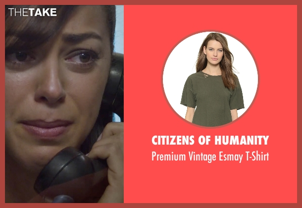 Citizens of Humanity green t-shirt from Straight Outta Compton seen with Elena Goode (Nicole Threatt)