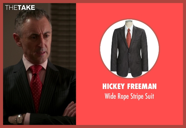 Hickey Freeman black suit from The Good Wife seen with Eli Gold (Alan Cumming)