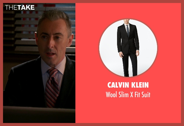 Calvin Klein black suit from The Good Wife seen with Eli Gold (Alan Cumming)