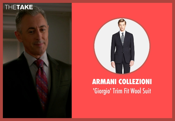 Armani Collezioni black suit from The Good Wife seen with Eli Gold (Alan Cumming)