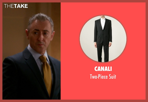 Canali black suit from The Good Wife seen with Eli Gold (Alan Cumming)