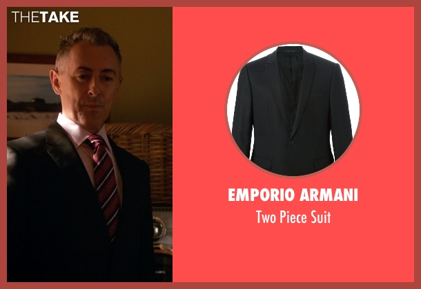 Emporio Armani black suit from The Good Wife seen with Eli Gold (Alan Cumming)
