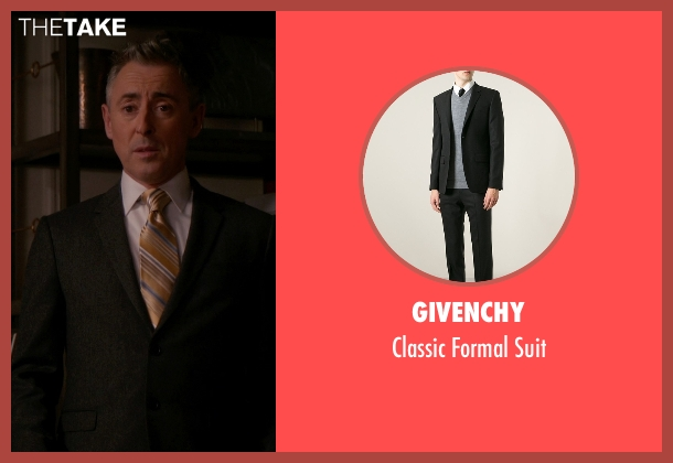 Givenchy black suit from The Good Wife seen with Eli Gold (Alan Cumming)