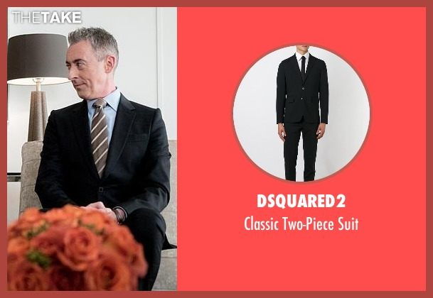 Dsquared2 black suit from The Good Wife seen with Eli Gold (Alan Cumming)