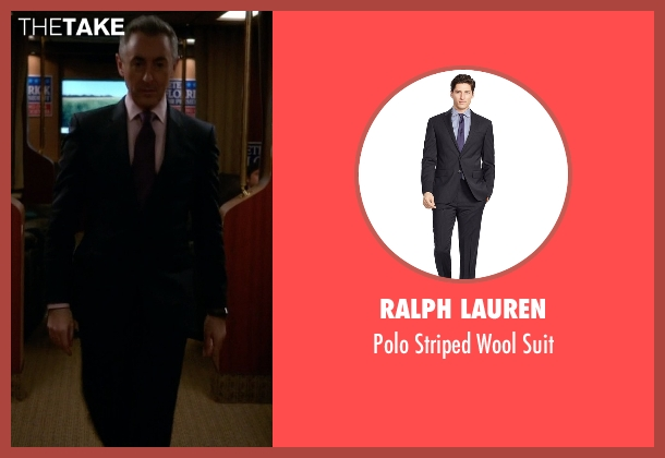 Ralph Lauren black suit from The Good Wife seen with Eli Gold (Alan Cumming)