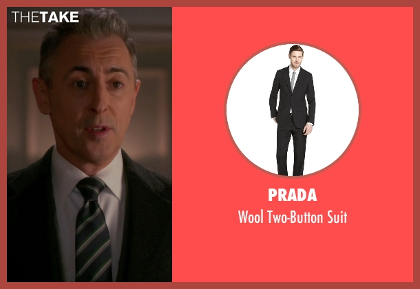 Prada black suit from The Good Wife seen with Eli Gold (Alan Cumming)