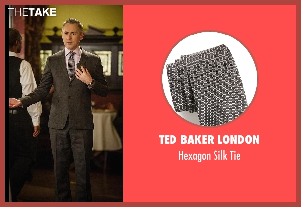 Ted Baker London black tie from The Good Wife seen with Eli Gold (Alan Cumming)