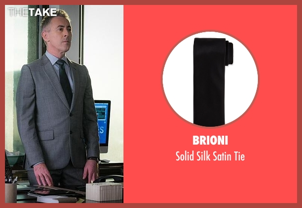 Brioni	 black tie from The Good Wife seen with Eli Gold (Alan Cumming)