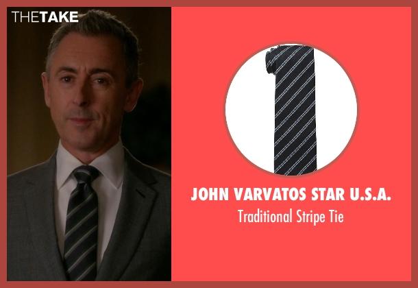 John Varvatos Star U.S.A. black tie from The Good Wife seen with Eli Gold (Alan Cumming)