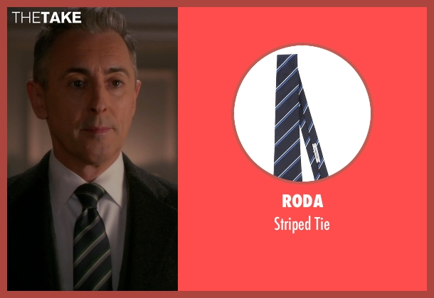 Roda black tie from The Good Wife seen with Eli Gold (Alan Cumming)