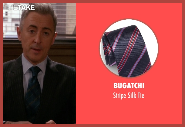 Bugatchi black tie from The Good Wife seen with Eli Gold (Alan Cumming)