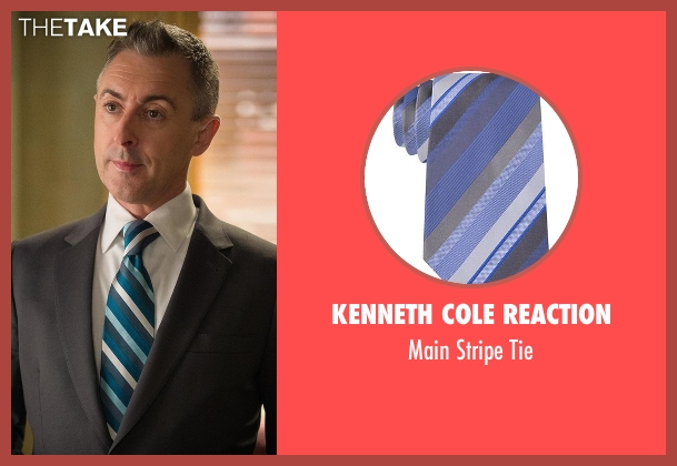 Kenneth Cole Reaction blue tie from The Good Wife seen with Eli Gold (Alan Cumming)