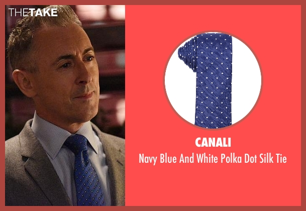 Canali blue tie from The Good Wife seen with Eli Gold (Alan Cumming)