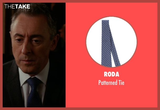 Roda blue tie from The Good Wife seen with Eli Gold (Alan Cumming)