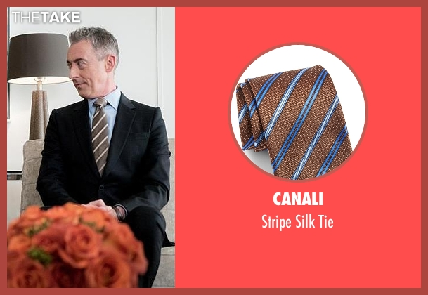 Canali brown tie from The Good Wife seen with Eli Gold (Alan Cumming)