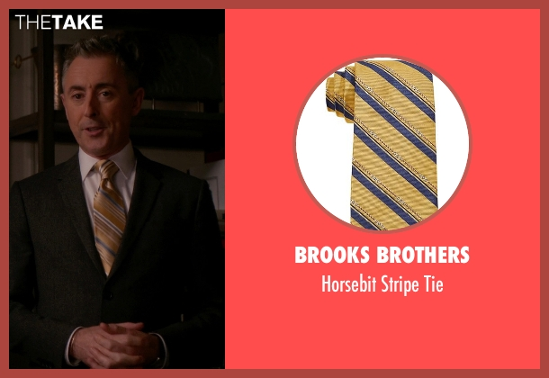 Brooks Brothers gold tie from The Good Wife seen with Eli Gold (Alan Cumming)