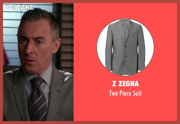 Z Zegna gray suit from The Good Wife seen with Eli Gold (Alan Cumming)
