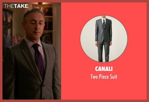 Canali gray suit from The Good Wife seen with Eli Gold (Alan Cumming)