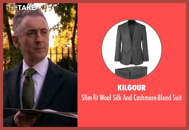 Kilgour gray suit from The Good Wife seen with Eli Gold (Alan Cumming)