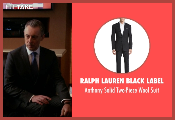 Ralph Lauren Black Label gray suit from The Good Wife seen with Eli Gold (Alan Cumming)